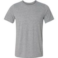 Camiseta Adulto Cinza Mescla 100% Poliester - GG