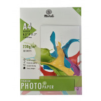 Papel Glossy 230g A4 c/50 Folhas
