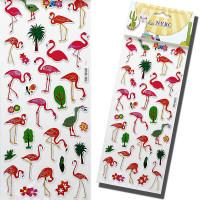 Cartela Adesiva Flamingo 3d C/ 30
