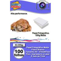 Papel Foto Matte 230g A4 100 Folhas