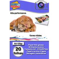 Papel glossy 120g A4 C/20Fl
