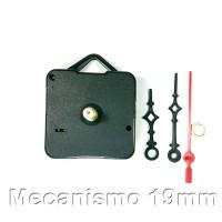 Kit Maquina Relogio Quartz e Ponteiros Pretos - 2,1cm