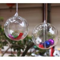 Esfera De Natal Acrilico Transparente C/10 Un