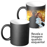 Caneca Ceramica Mágica 325ml - Preta Fosca