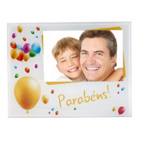 Porta Retrato Vidro 10x15 Pf-0582-4 Parabens