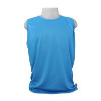 Camiseta Regata Masculina Dryfit Furadinha Azul P