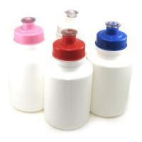 Squeeze Branco 300ml C/Tampa Coloridas C/10
